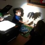 Gruffalo shadow puppets!