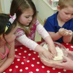 Making gruffalo crumble